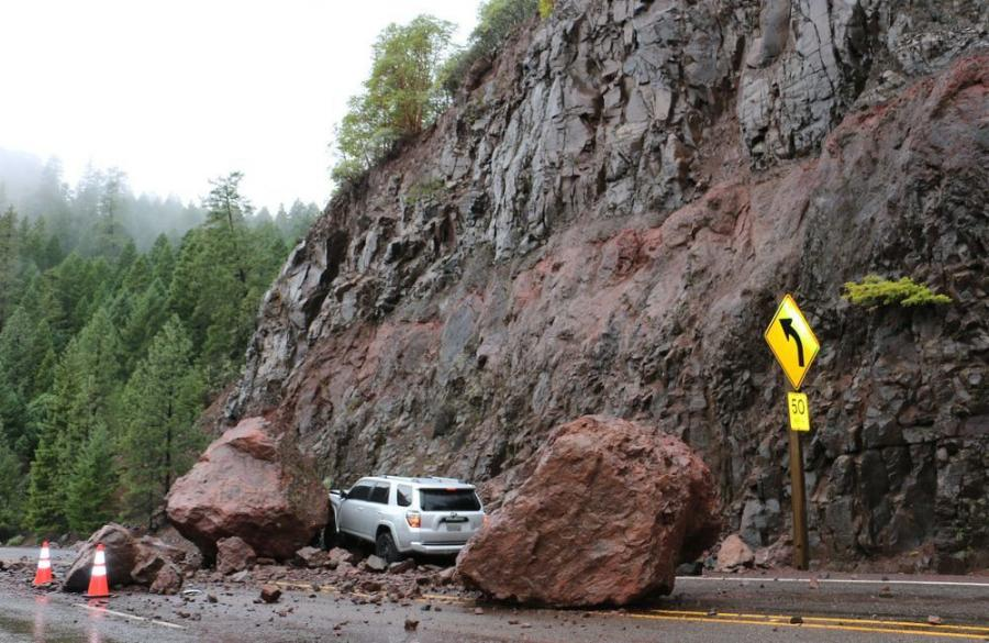 The database includes attributes to maintain MSE retaining wall locations and risk factors to evaluate the condition of the wall, as well as attributes for rock fall risk, so ITD districts can assess the problematic areas that could cause road closures.