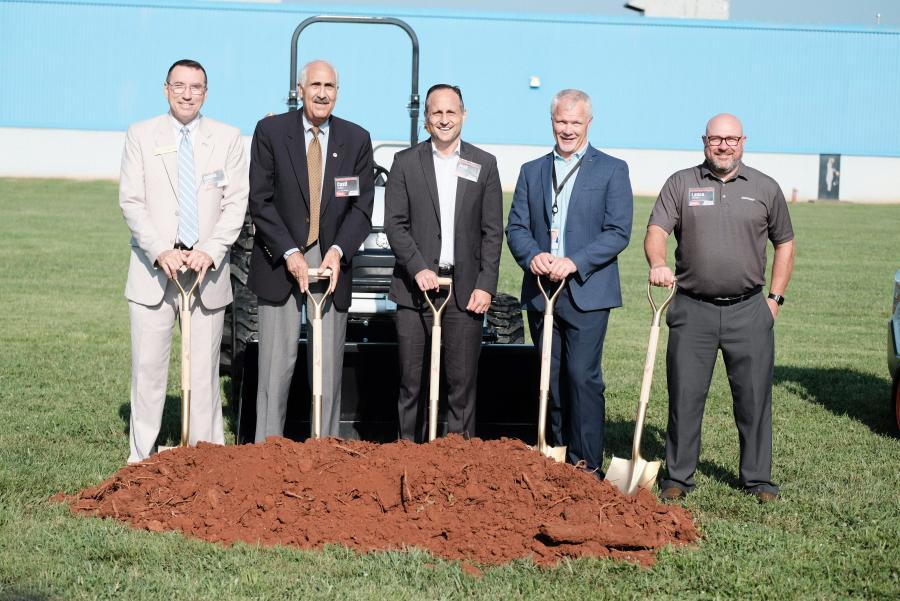 (L-R) are Iredell County Commissioner James Mallory; Statesville Mayor Cossi Kutteh; North Carolina Labor Commissioner Josh Dobson; Doosan Bobcat North America President Mike Ballweber; and Doosan Portable Power Global VP Lance Mathern.