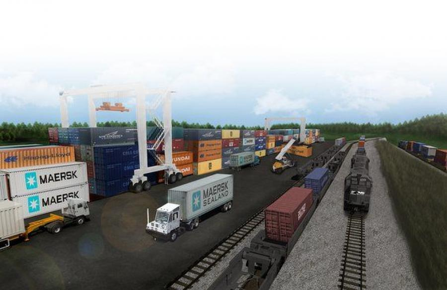 Rendering of the proposed Inland Port.