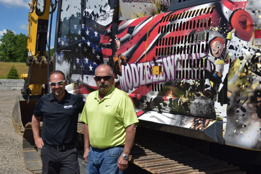 James Modzelewski (L), president of Modzelewski's, and John Apple of Westchester Tractor.