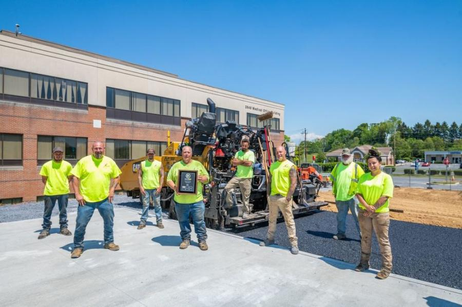 Schlouch Inc. Paving Division is recognized for the National Asphalt Pavement Associations's Diamond Paving Commendation for Excellence in Paving Operations.