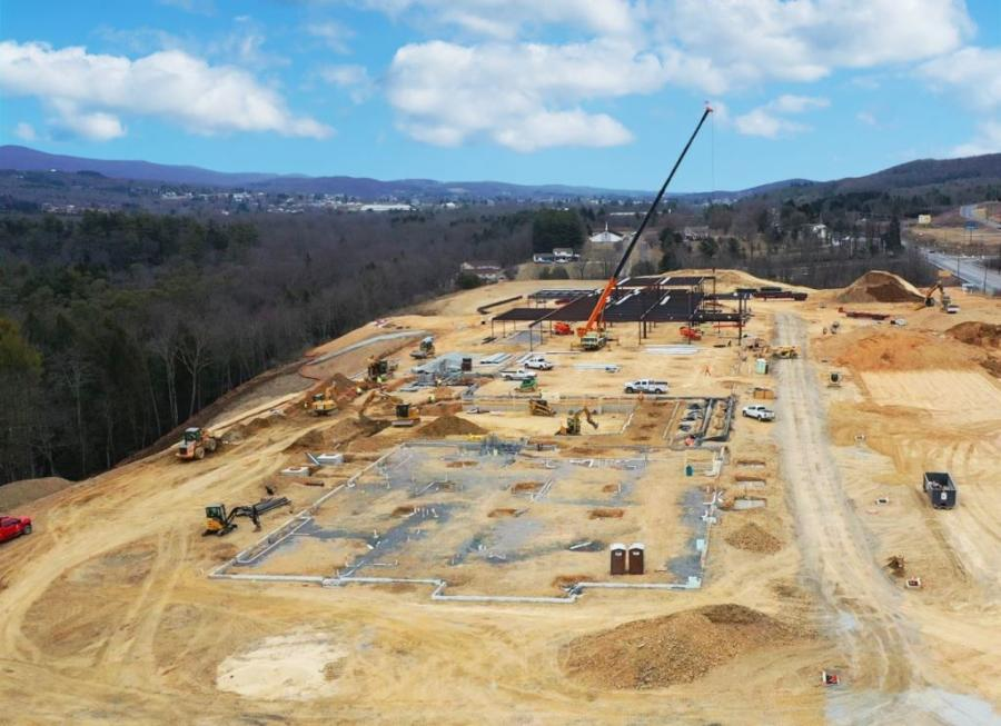 Schlouch site crews make quality progress at the 34.57-acre Lehigh Valley Health Network Carbon Hospital.