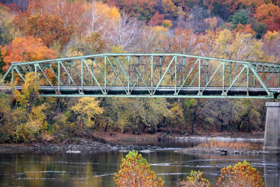 The 753 foot long, 25.9 foot wide General Pierce bridge with a steel truss design was built in 1947, according to Joe Burek of Northern Construction's bridge crew. (Joe R. Parzych photo)