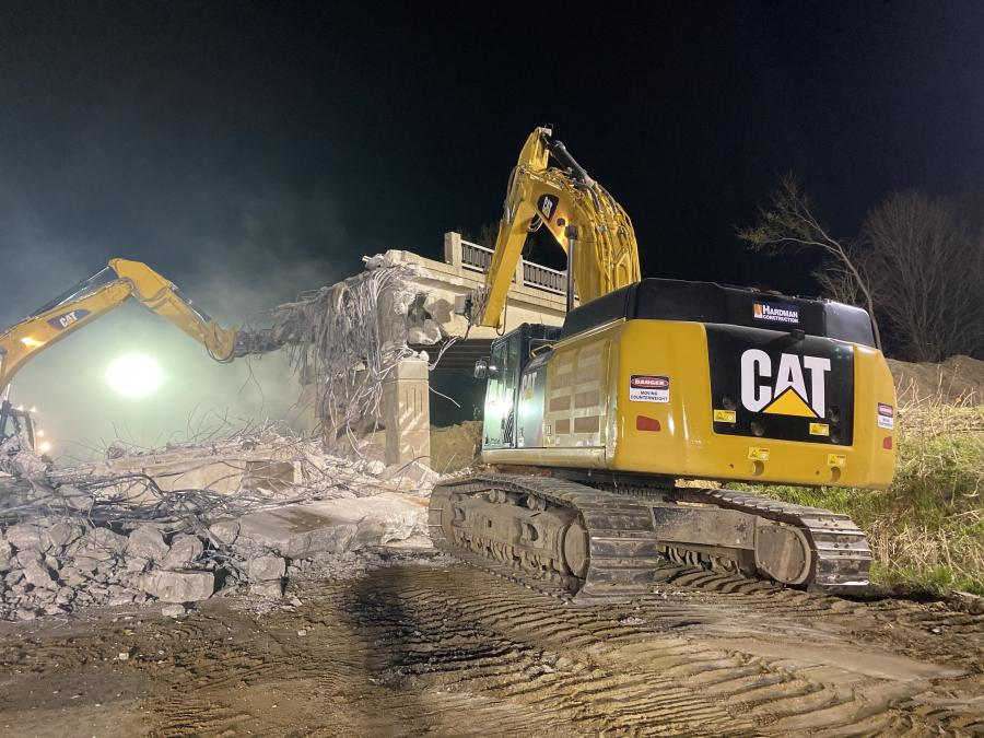 """""""The biggest issue to date was the demolition of three existing structures on I-94,"""" said Thomas D. Peplinski, vice president, D.J. McQuestion & Sons Inc. (Hardman Construction photo)"""