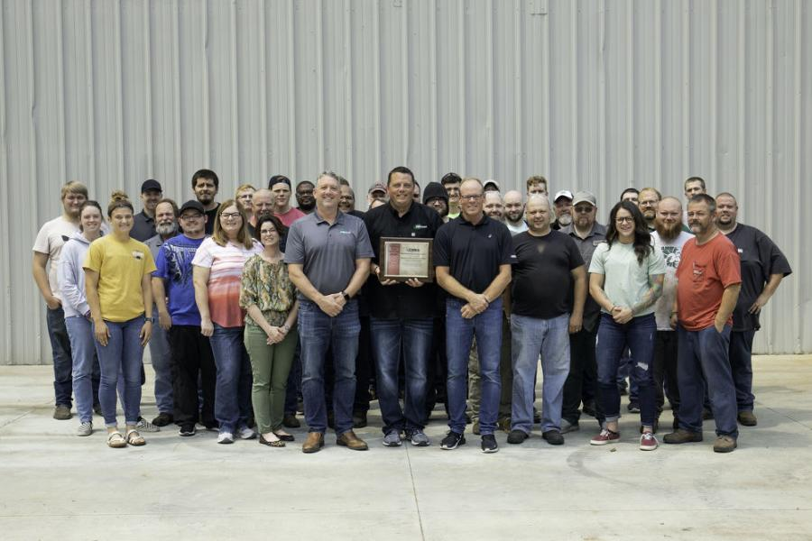 The award was presented to Minnich for its dedicated effort and continued partnership toward GOMACO's business success for 2020 and the years ahead. Minnich Manufacturing is the first-ever recipient of the award.