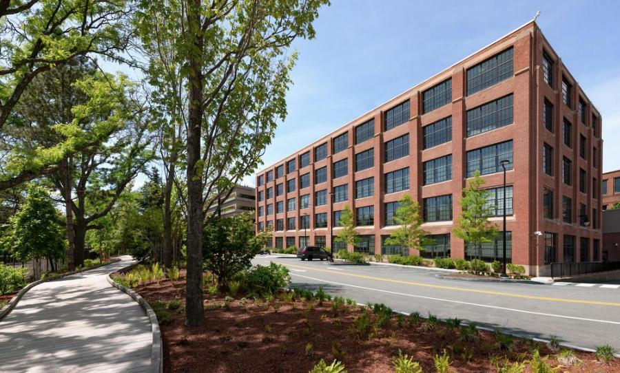 The building in Watertown, Mass., that will house Landmark Bio, Harvard and MIT's new biological research and manufacturing facility. (Alexandria Real Estate Equities Inc. photo)