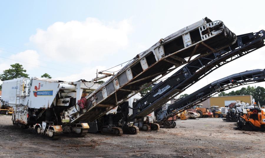 Milling machines, pavers, compactors, dump trucks, distributors, earthmoving machines were all up for bid.