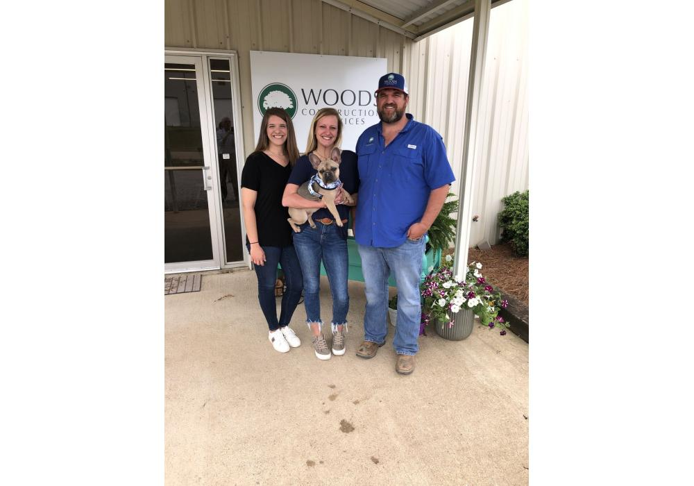 (L-R): Megan Hughes, Whitney Woods and Brian Woods, all of Woods Construction Services.