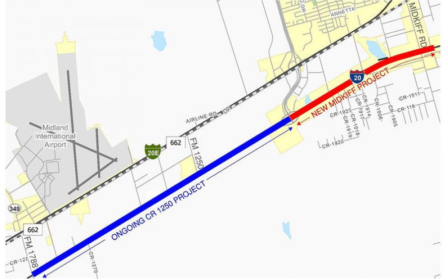 James Construction Group LLC of Baton Rouge, La., won the Midkiff overpass project with a low bid of approximately $36.3 million.