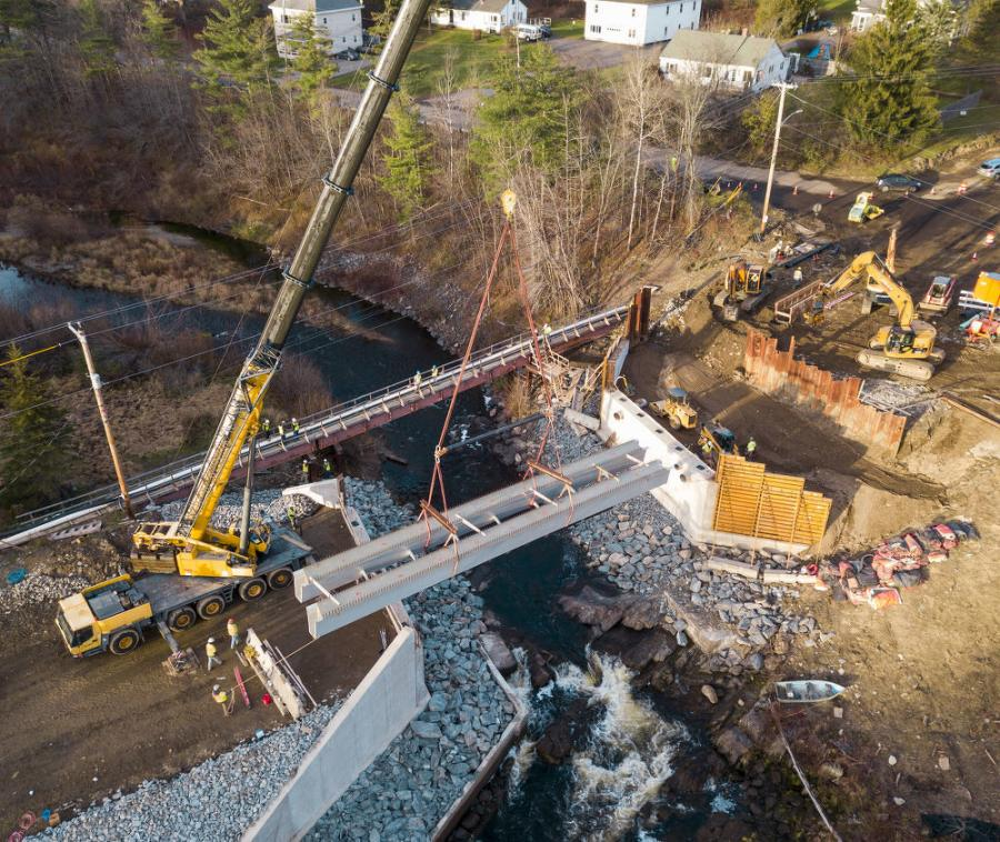 The city of Hampden, Maine DOT and Advanced Infrastructure Technologies (AIT) recently celebrated the installation of an innovative bridge and are awaiting the completion of the second bridge of its kind in the coming months.