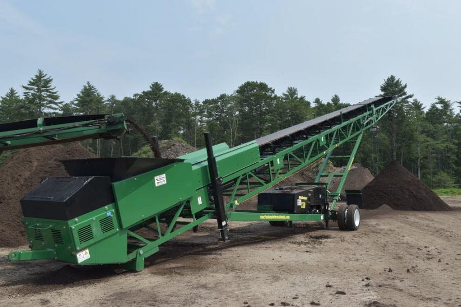 Agresource recently purchased this 80-ft. conveyor from McCloskey to manage its stockpiles.