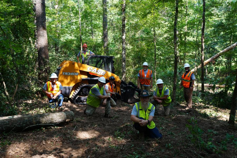 """The event — dubbed as one of the organization's first heavy equipment """"Disaster Training Camps"""" — helped operators gain proficiency in the use of compact track loaders for debris removal and route clearance operations ahead of the upcoming hurricane season, resulting in much-needed debris removal and site improvement needs for the Pirtle Scout Reservation."""