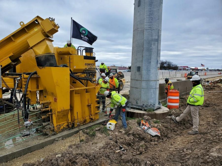 The project has approximately 100,000 tons of HMA to pave, and it will be critical to have the mix placed before unfavorable paving conditions set in. (Wisconsin Department of Transportation photo)