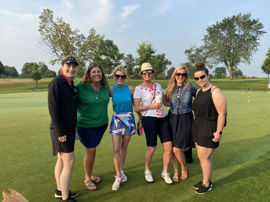 The Association of Women Contractors sponsored a hole and sent a group to play.