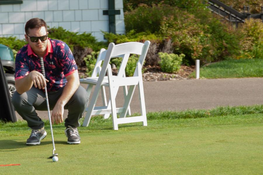 Considering the putting contest angles.