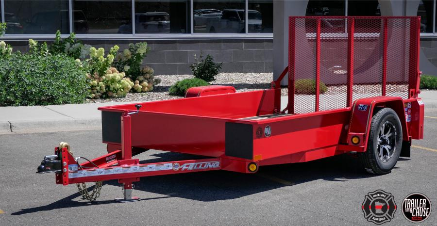 The online auction of the trailer will run for seven days: Sept. 5 thru 11. Several Felling Trailers' suppliers have joined to support MNFFF by sponsoring the trailer build, from lighting to tires to decking.