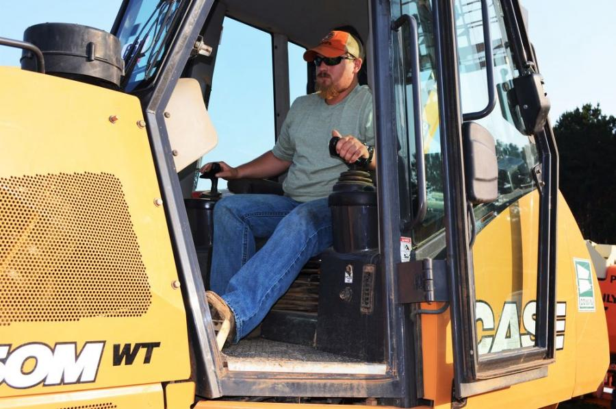 Test operating a Case 850M dozer is Brett Houston of Houston Excavation, Ft. Payne, Ala.