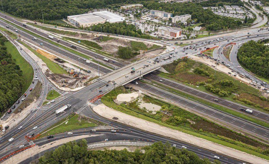 A 15-month dispute between D.A.B. Constructors and FDOT over issues on the I-75/SR 56 Diverging Diamond Interchange project in Pasco County led to the agency finding the contractor in default, a major factor in the firm's decision to shutter its operation. (FDOT photo)