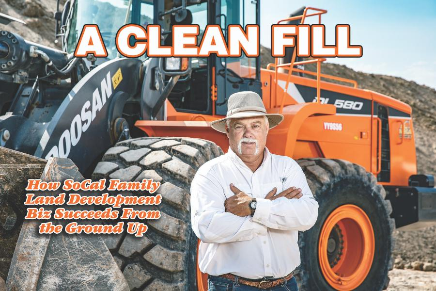 David Rowland's business, T.O. Development, operates as a clean import fill site, cleaning up land across Southern California and making it suitable for development. Its strategy starts from the ground up.