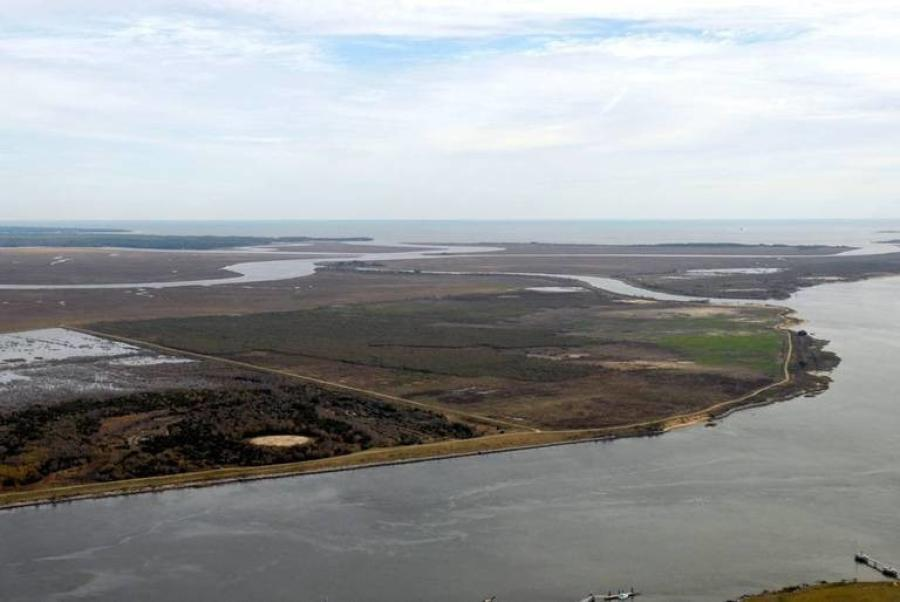 This file photo shows the location where the bi-state Jasper Ocean Terminal would be located along the Back River in Jasper County, S.C (Georgia Ports Authority photo)