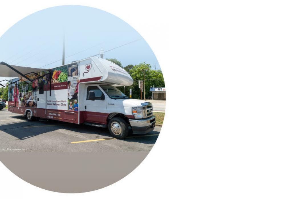 Crews from JE Dunn, a company that is overseeing the construction of the new health sciences research building on Emory University's campus, took advantage of a mobile COVID-19 vaccination unit.