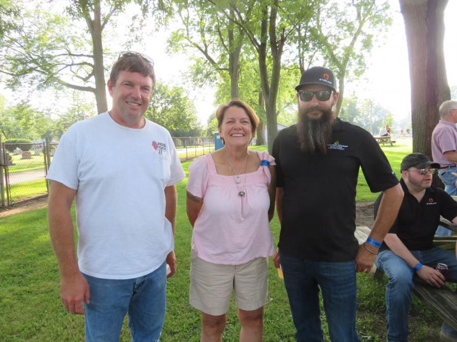 (L-R) are Nick Stipanovich of Illinois Truck and Equipment; and Colleen Herrera and Chris Moore, both of Sterling Site Access Solutions.