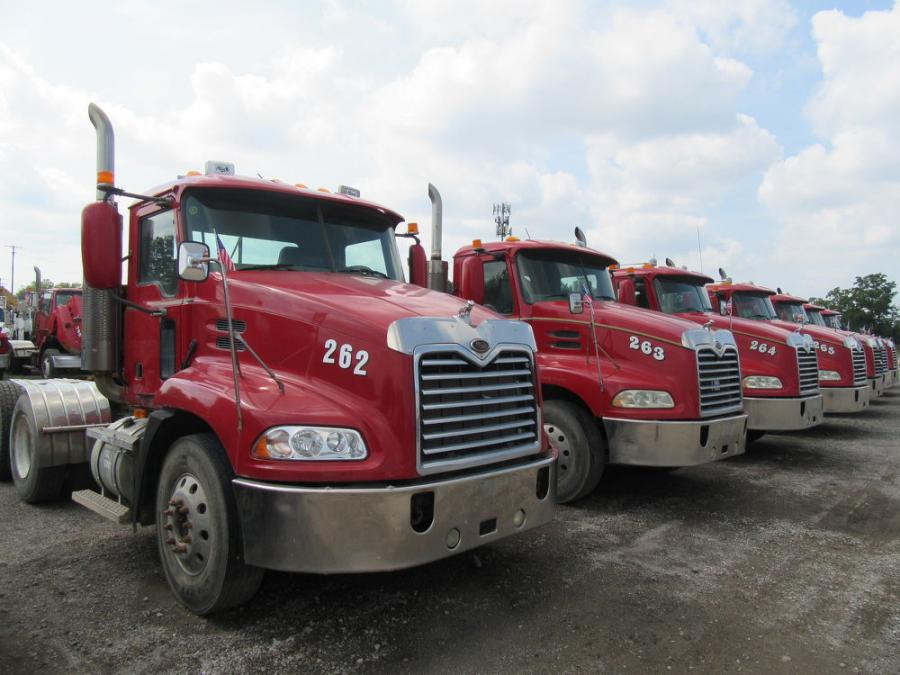 The auction's fleet of well-maintained trucks drew heavy bidding.