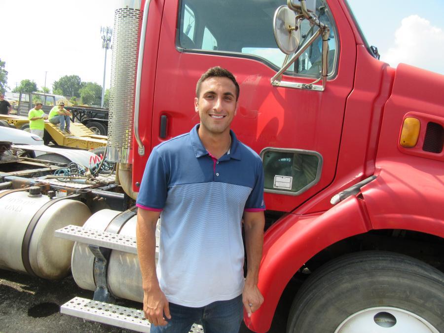 Jordan Adelman of Adelman Truck Parts Corporation was interested in the trucks and diesel motors up for bid.