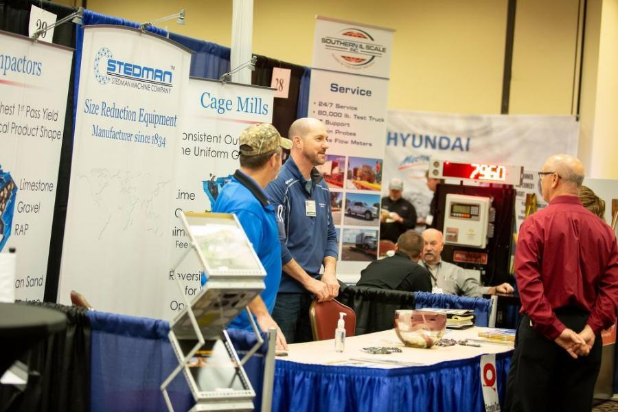 The expo exhibits the latest equipment and technologies for the aggregate industry.