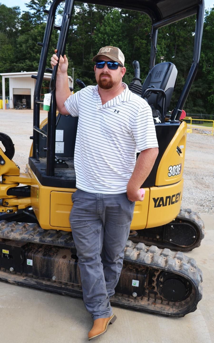 In just a tick over 30 seconds to complete the mini-excavator challenge, Blake Haagen of Garrett Paving, Athens, Ga., was the winner of the event and received a $500 credit towards his next Yancey Rents equipment rental.