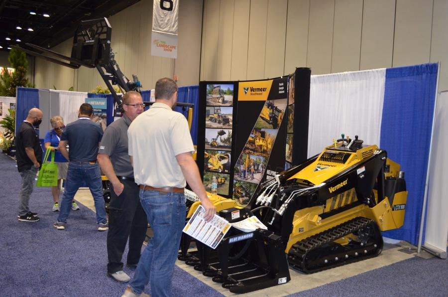 Vermeer Southeast had a continuous flow of traffic stopping by to talk about the Vermeer machines it had on display and the attachments it was showcasing.