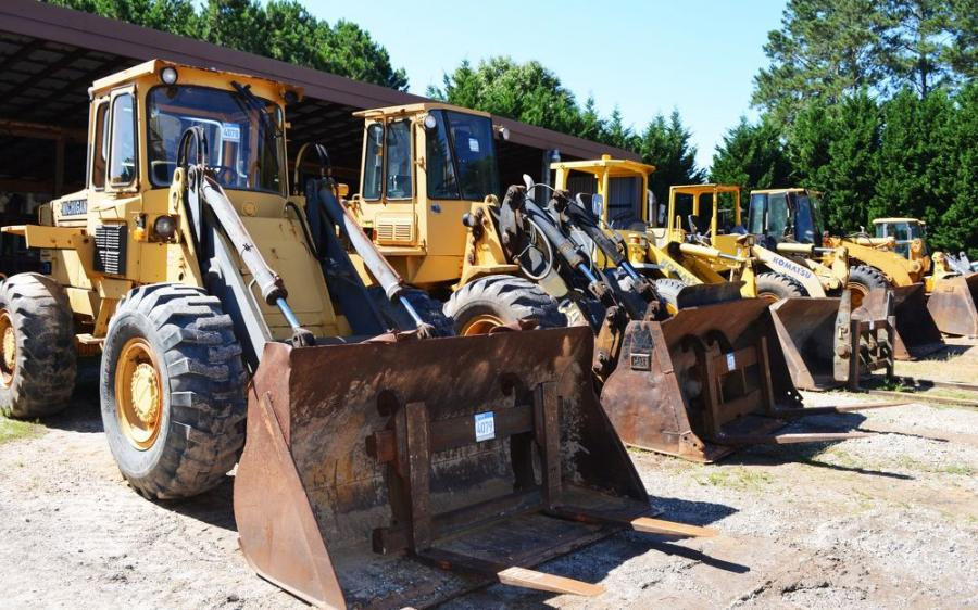 A terrific lineup of wheel loaders was featured in this auction.