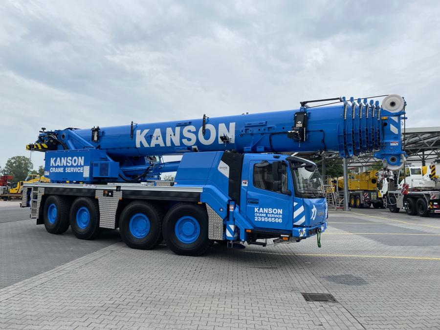 Kanson has been a Grove customer for more than 10 years and received its first GMK4100L units in 2019.