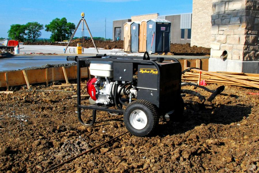 Curb Roller Manufacturing offers the Hydra-Pack HP1300, a portable heavy-duty hydraulic power unit with ample power to operate the company's Curb Roller CM4000 and Hydra-Screed HS3000.