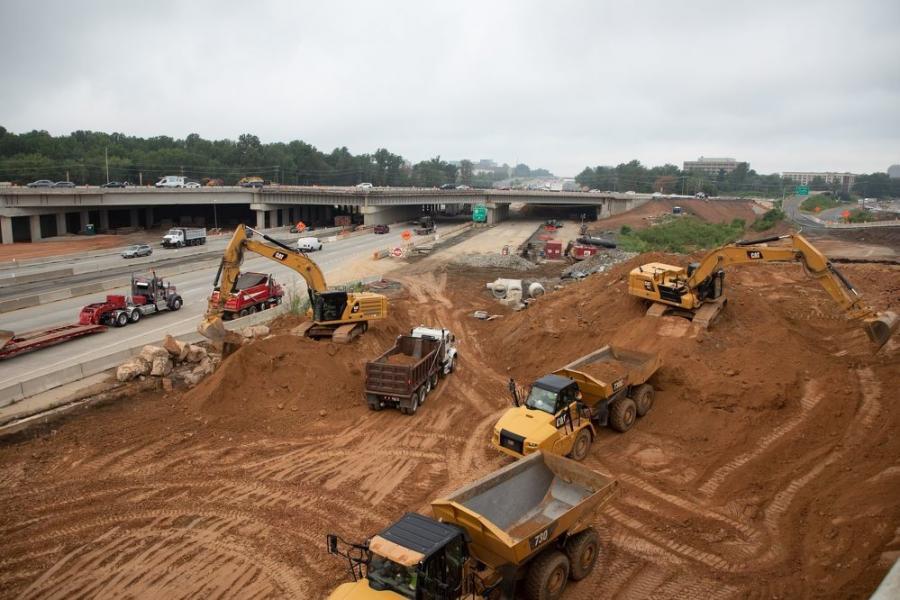 路线50交汇处的土方制品显示了变换I66项目的一些复杂性。Express Lanes和通用车道都将有自己的访问坡道。