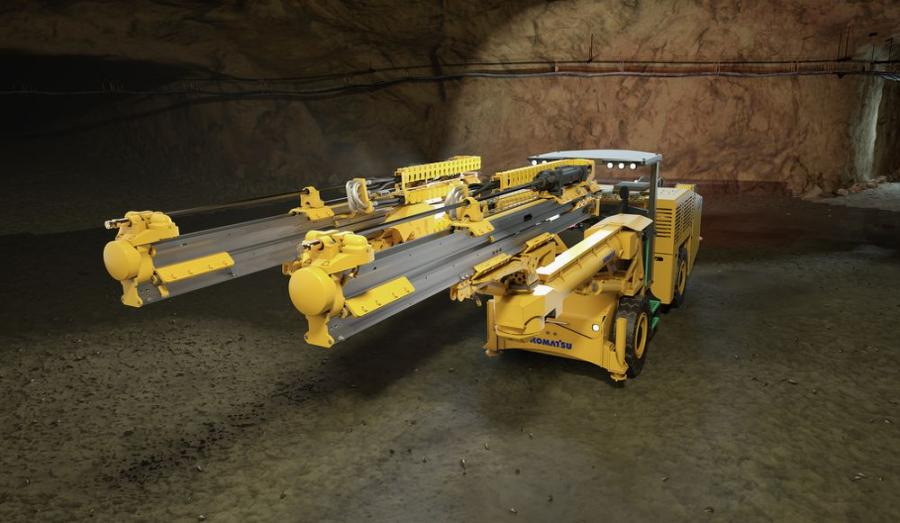Komatsu's ZJ32Bi is a battery-electric, medium-class jumbo built on a common platform, allowing it to essentially become a multifunction drilling machine.