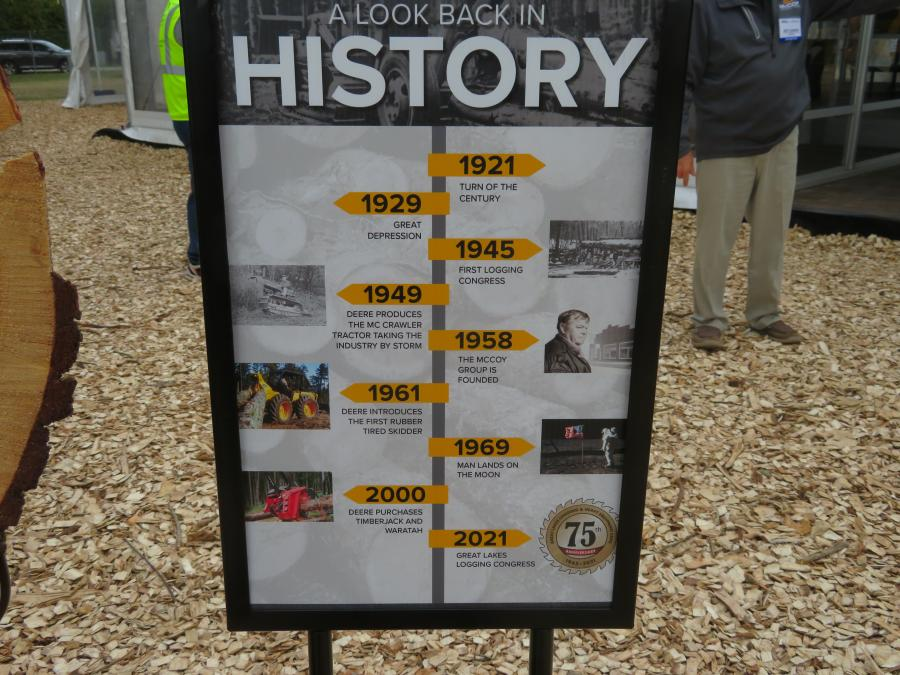 McCoy Construction and Forestry offered a history lesson.