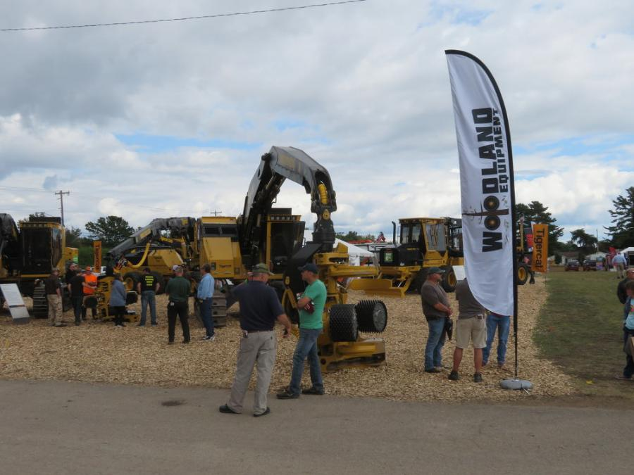 Woodland Equipment displayed its Tigercat line of forestry equipment.