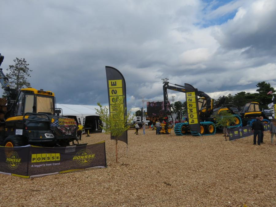 Ponsse North America Inc. had plenty of traffic in its display area at the annual three-day event.