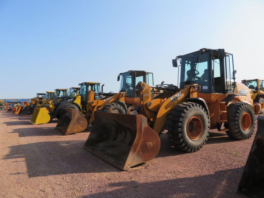 There were plenty of wheel loaders for bidders to choose from at Wausau Auctioneers' annual fall auction.