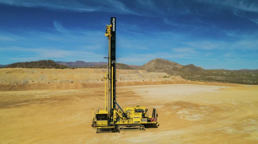 The ZR77 at Komatsu's Arizona Proving Grounds in Tucson, Ariz.