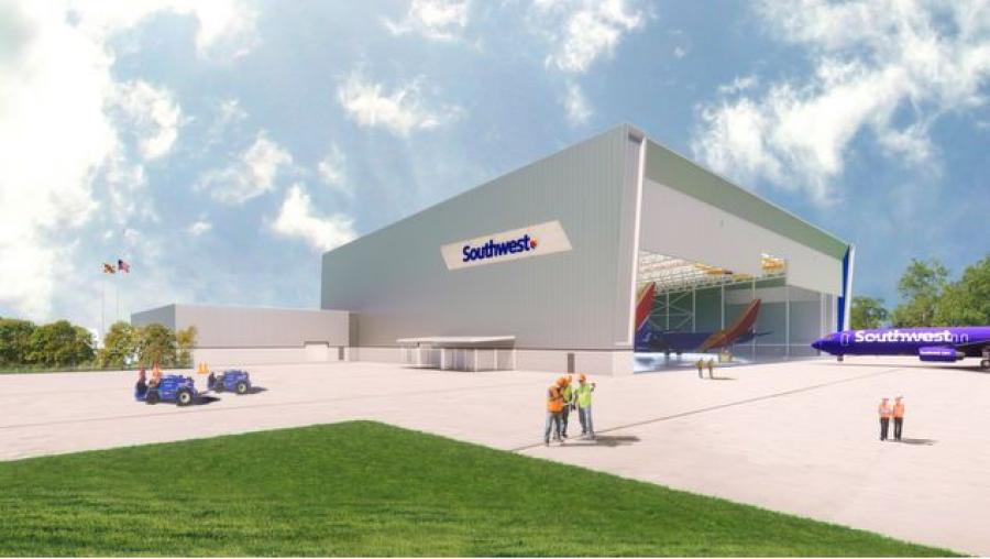 Construction could begin soon on a brand new maintenance facility for Southwest Airlines at Baltimore/Washington International Thurgood Marshall Airport. (BWI airport photo)
