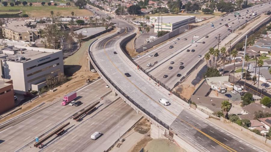 The project aims to improve operations of one of the most congested freeways in the country and is expected to generate approximately 26,000 jobs.