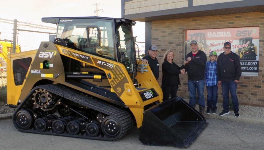 Andrew Stewart won a one-year lease on a new MAX-Series RT-75 Posi-Track loader.