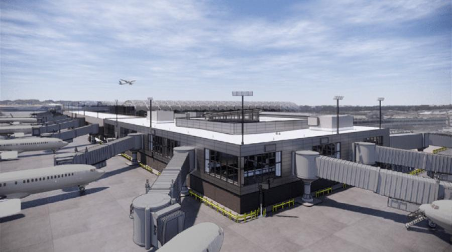 The joint venture of Skanska, New South Construction, FS360 and Synergy Construction were selected for $124.5 million Hartsfield-Jackson Atlanta International Airport Concourse T-north extension. (City of Atlanta DOA rendering)