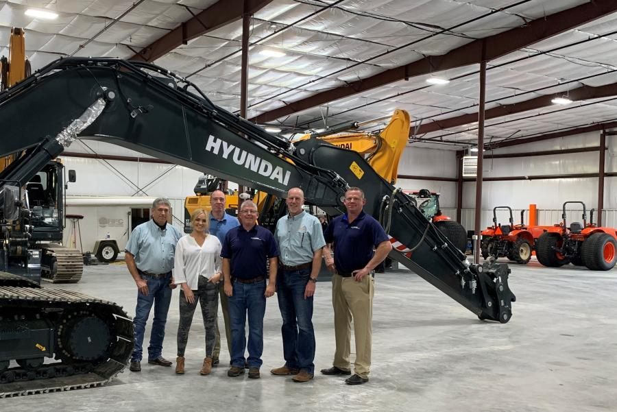 (L-R) are: Stacey McCully, Taylor general product support manager; Hillary Wilson, Taylor construction equipment regional sales manager; Carl McPeak, Taylor construction equipment regional sales manager; Ed Harseim, Hyundai district sales manager; Tim Gerbus, Taylor allied and construction equipment product sales manager; and Mike Fuller, Hyundai senior product manager.