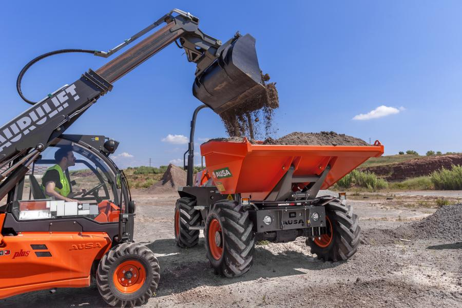 AUSA's dumpers work well in applications like landscaping, smaller earthmoving jobs and projects involving concrete.