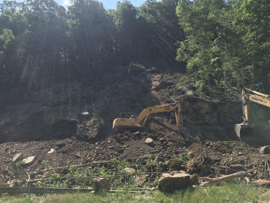 Final work continues in the area of a major rockslide that occurred in June in Henry Clay Township in Pennsylvania near the border of Fayette and Somerset counties.