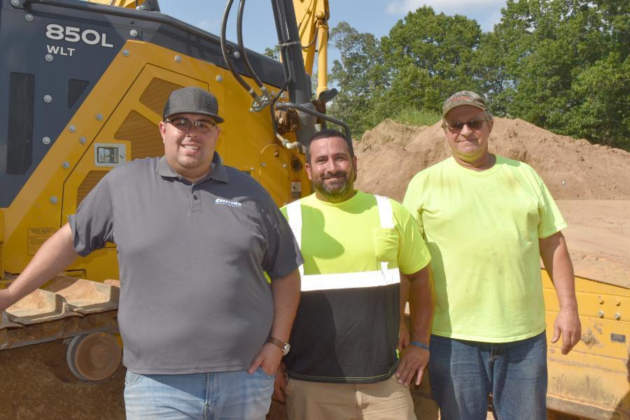 (L-R): Aaron Dziengelewski, Brian DeLuc and John Dziengelewski, all with Crestview Inc.