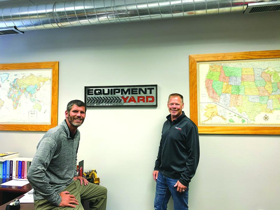 Travis Headley (L) and Jeremy Torgerson founded Equipment Yard LLC at the beginning of 2021 to provide a niche service selling used construction equipment for actual market value.